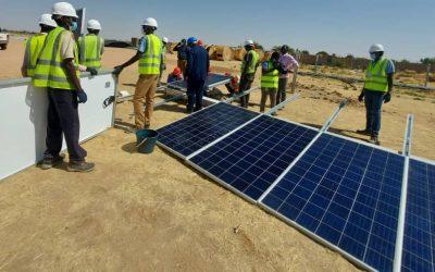 Avancée des travaux de la centrale solaire d'Abéché